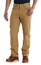 Carhartt Men's Rigby Rugged Flex Hickory Khaki Straight Leg Relaxed Fit Five Pocket Pants