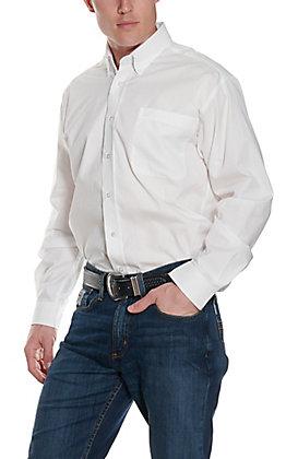 Cinch L/S Mens Solid Fine Weave Shirt 10320020WHT