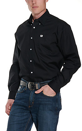 Cinch Men's Solid Black Long Sleeve Western Shirt