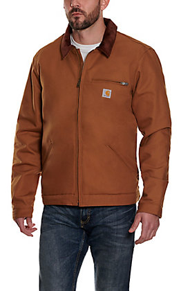 Carhartt Men's Carhartt Brown Detroit Jacket - Big & Tall