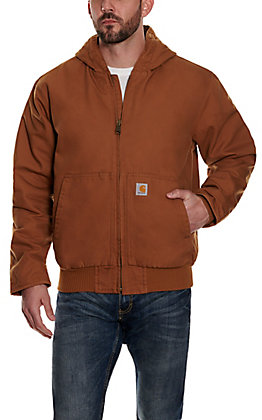 Carhartt Men's Brown Quilted Nylon-lined Active Jacket - Big & Tall