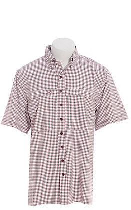 GameGuard Outdoors Men's Maroon TekCheck Fishing Shirt