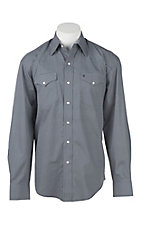Stetson Men's Mini Grey Print L/S Western Snap Shirt