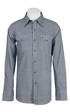 Stetson Men's Navy and White Mini Print L/S Western Shirt