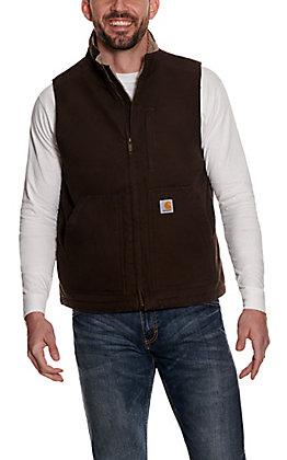 Carhartt Men's Dark Brown Serpa-Lined Work Vest