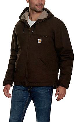 Carhartt Men's Dark Brown Sherpa Lined Jacket