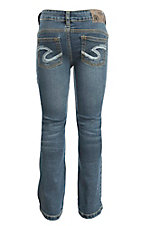Silver Jeans Girl's Dark Wash Boot Cut Jeans