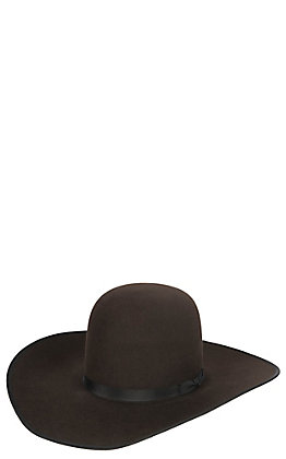 Rodeo King 10X Chocolate Open Crown Hat