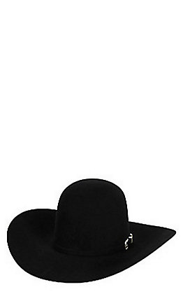 American Hat 10X Black Open Crown Felt Cowboy Hat