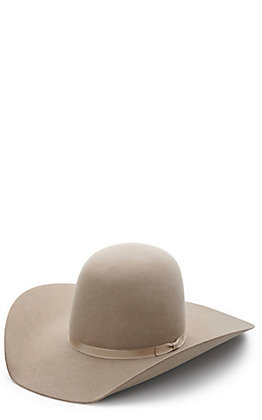 Rodeo King Ash 10X Open Crown Felt Hat