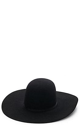 "Rodeo King Black 10X Open Crown 5"" Brim Felt Hat"