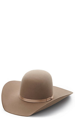 Rodeo King Pecan 10X Open Crown Felt Hat
