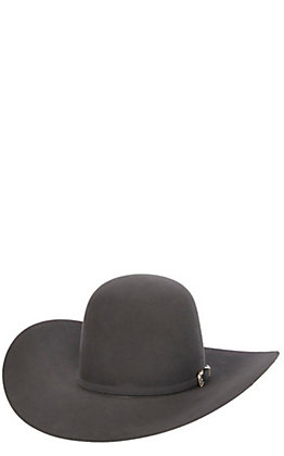 American Hat 10X Steel Grey Open Crown Cowboy Hat