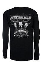 Cowboy Hardware Men's Black Triple Ranch Long Sleeve Tee