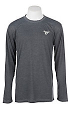 Cowboy Hardware Men's Long Sleeve Heather Black T-Shirt
