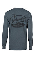 Hunters Hardware Men's Dark Heather Grey Backcountry Gear Long Sleeve T-Shirt