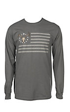 Hunter Hardware Men's American Deer Long Sleeve T-Shirt