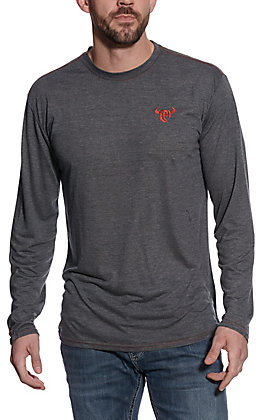 Cowboy Hardware Men's Grey Long Sleeve T-Shirt