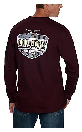 Cowboy Hardware Men's Wine Country Way of Life Long Sleeve T-Shirt