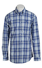 Cinch Men's Blue Plaid Western Shirt
