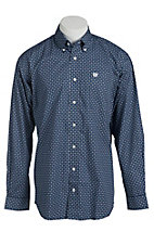 Cinch Men's Navy Geometric Print Western Shirt