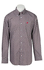 Cinch L/S Mens Mini Print Shirt 1104099