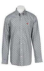 Cinch L/S Mens Grey Circle Print Shirt 1104102