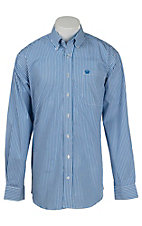 Cinch Men's Blue Stripe L/S Shirt