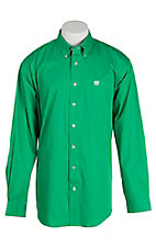 Cinch Men's Solid Green L/S Shirt