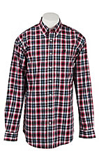 Cinch Men's Red Plaid L/S Shirt