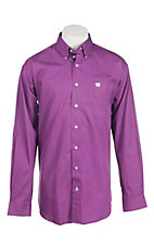Cinch Men's Solid Purple L/S Shirt