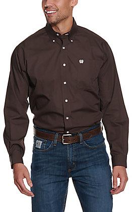 Cinch Men's Solid Brown Long Sleeve Western Shirt
