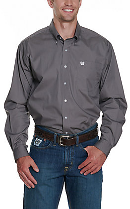 Cinch L/S Mens Fine Weave Shirt 1104238