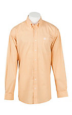 Cinch Men's Gold, Grey, and White Circle Print L/S Shirt