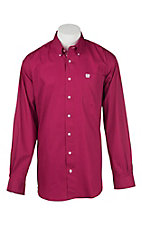 Cinch Men's Solid Cranberry L/S Western Shirt