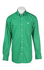 Cinch Men's Green, Khaki, and Black Print L/S Western Shirt