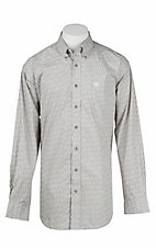 Cinch Men's Grey Fuzzy Print L/S Western Shirt