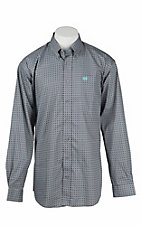 Cinch Men's Purple, Grey, and Teal Diamond Print L/S Western Shirt