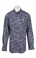Cinch Men's Purple Paisley Print L/S Western Shirt