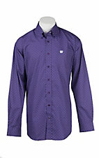 Cinch Men's Purple Print L/S Western Shirt