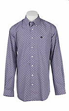 Cinch Men's Purple Aztec Print L/S Western Shirt