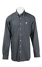 Cinch Men's Navy and White Mini Print L/S Western Shirt