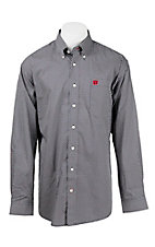 Cinch Men's Navy, White, and Red Print L/S Western Shirt