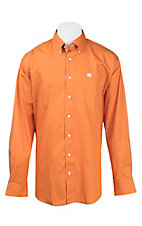 Cinch Men's Solid Orange L/S Western Shirt