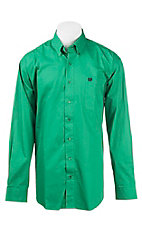 Cinch Men's Solid Green L/S Western Shirt