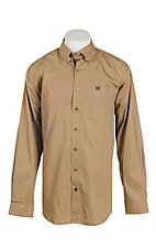 Cinch Men's Solid Tan L/S Western Shirt