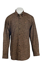 Cinch Men's Brown Paisley Print L/S Western Shirt
