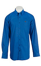 Cinch Men's Blue Armadillo Print L/S Western Shirt