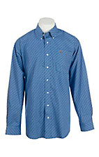 Cinch Men's Blue Circle Print L/S Western Shirt