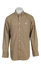 Cinch Men's Tan Circle Print L/S Western Shirt